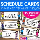 Schedule Cards {Bright and White Themed}