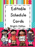 Schedule Cards - Brights Edition (Editable)