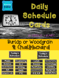 Schedule Cards {Burlap or Wood & Chalkboard}