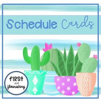 Schedule Cards (Cactus)