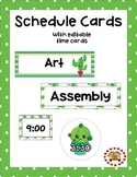 Schedule Cards - Cactus Themed (Editable Template Included)