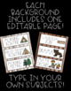 Schedule Cards! Camping Theme! 45 Different Cards, Plus On