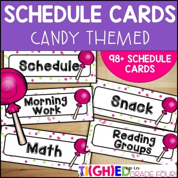 Schedule Cards {Candy Themed}