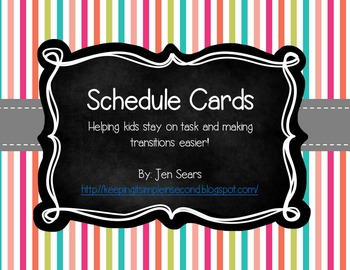 Schedule Cards (Carnival Theme)
