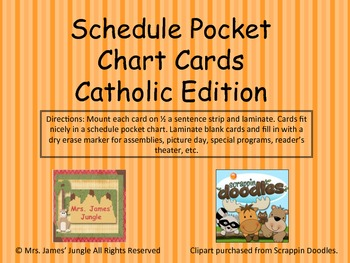 Schedule Cards Catholic Edition