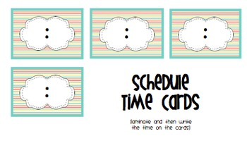 Schedule Cards Center Cards