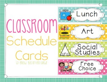 Schedule Cards - Center Cards - Polka Dots