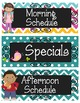 Schedule Cards {Chalkboard Chevron Polka Dot}