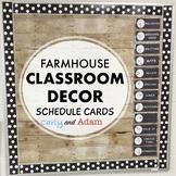 Farmhouse Decor Schedule Cards EDITABLE