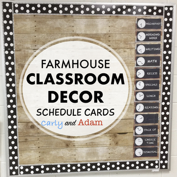 Farmhouse Decor Schedule Cards EDITABLE