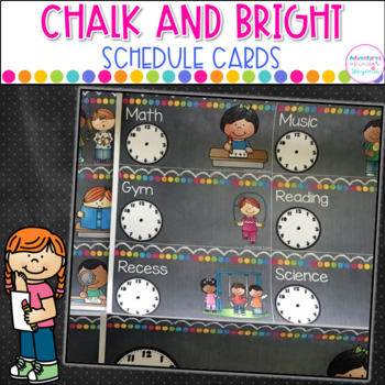 Chalk and Bright EDITABLE Schedule Cards