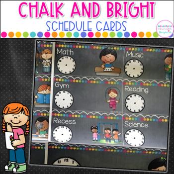 Schedule Cards- Chalkboard Style