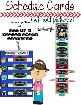 Editable Schedule Cards {Chalkboard Super Hero Theme}