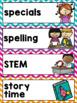 Schedule Cards {Chevron Classroom Decor Theme}