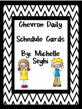 Schedule Cards - Chevron