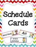 Schedule Cards Chevron