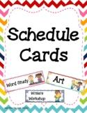 Schedule Cards Chevron
