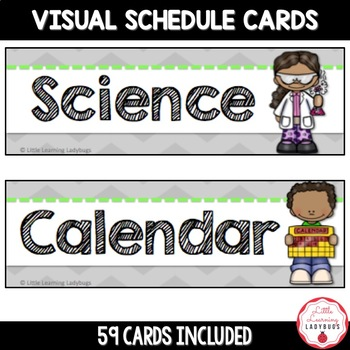 Schedule Cards {Chevron Background & Chalkboard Font}
