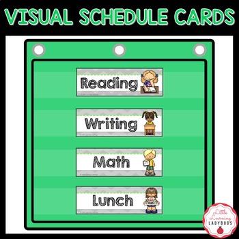 Schedule Cards {Chevron Background & Chalkboard Font}