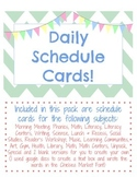 Schedule Cards Chevron Blue and Pink
