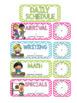 Schedule Cards-Chevron & Polka Dot