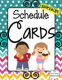 Schedule Cards {Chevron Polka Dot Theme}