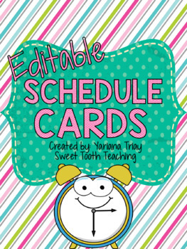 Schedule Cards-Chevron & Polka Dot