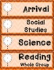 Schedule Cards: Chevron Theme (Orange)