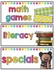 Schedule Cards Classroom Decor