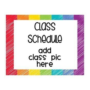 Schedule Cards Classroom Decor