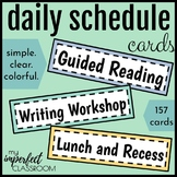 Simple and Colorful Daily Schedule Cards | Classroom Decor