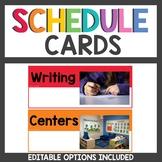 Rainbow Class Decor Schedule Cards