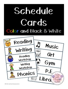 Schedule Cards (Color and Black and White)