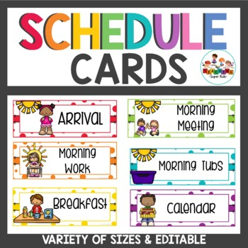 Schedule Cards Confetti Themed
