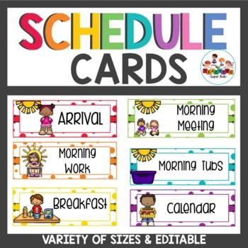 Confetti Schedule Cards