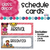 Schedule Cards Coral and Gray