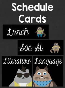 Schedule Cards: Costumed Cats