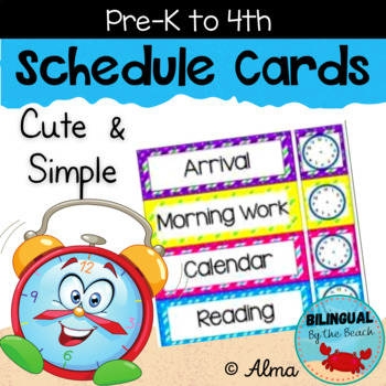 Schedule Cards Cute and Simple