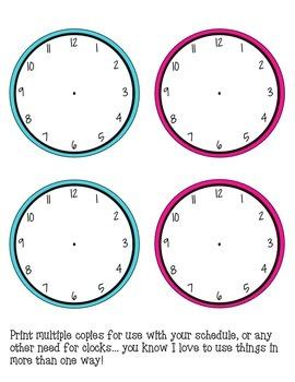 Schedule Cards - D'Nealian Bubble Dots