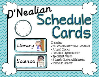 Schedule Cards - D'Nealian Exotic Sea Chevron