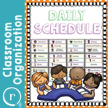 Kid Friendly Daily Schedule Polka Dots