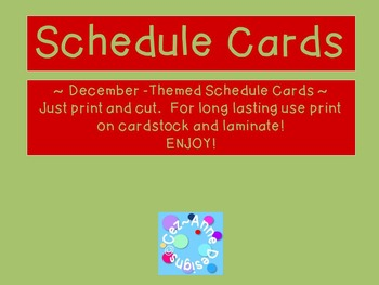 Labels - Schedule Cards ~ December Theme