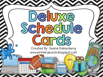 Schedule Cards {Deluxe Edition}