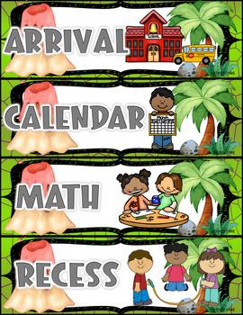 Schedule Cards (Dinosaur Theme)