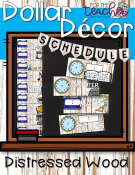 Schedule Cards {Distressed Wood}