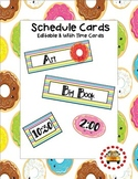 Schedule Cards - Donut Themed (Editable Template Included)