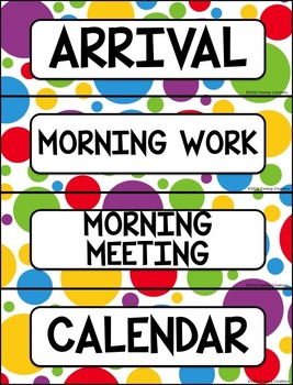 Editable Schedule Cards Dots