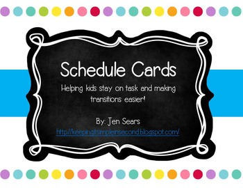 Schedule Cards (Dots on White)
