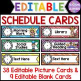 Schedule Cards {EDITABLE}