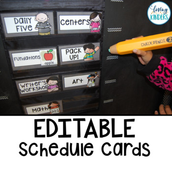 Schedule Cards: EDITABLE